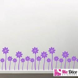Sticker tapis de fleurs