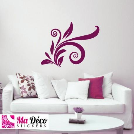 Sticker Floral Swirl