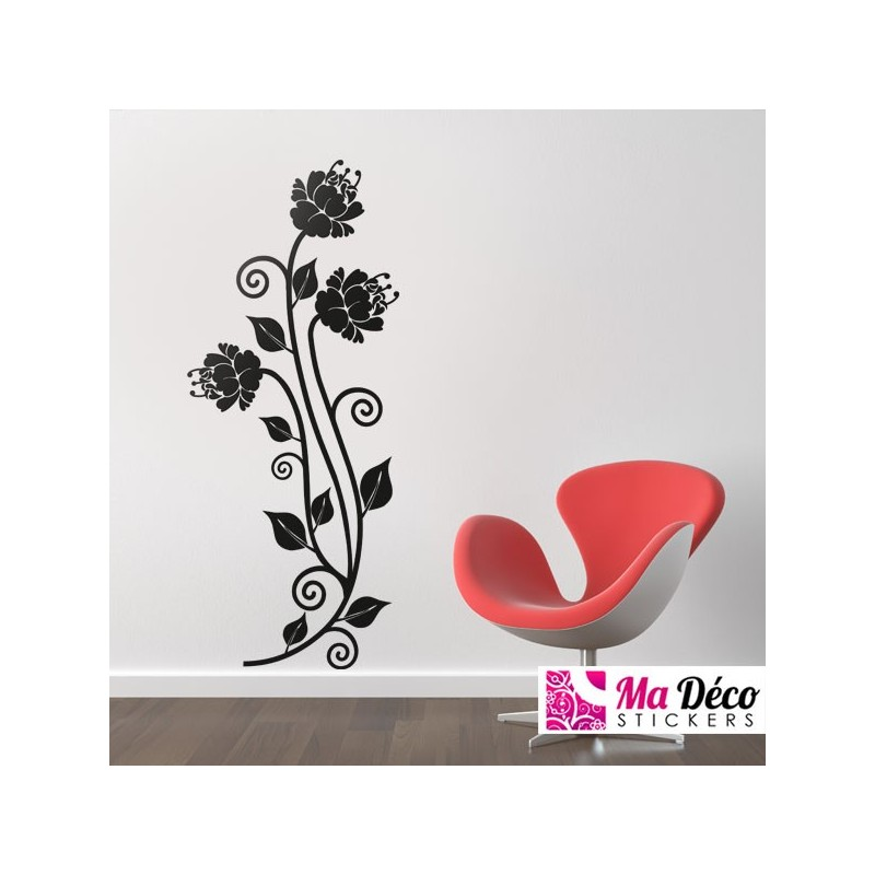 sticker fleurs bloemen pas cher stickers nature discount stickers muraux madeco stickers. Black Bedroom Furniture Sets. Home Design Ideas