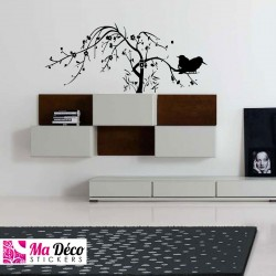 Sticker Birds Tree