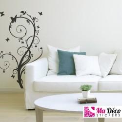 Sticker Floral & Papillons