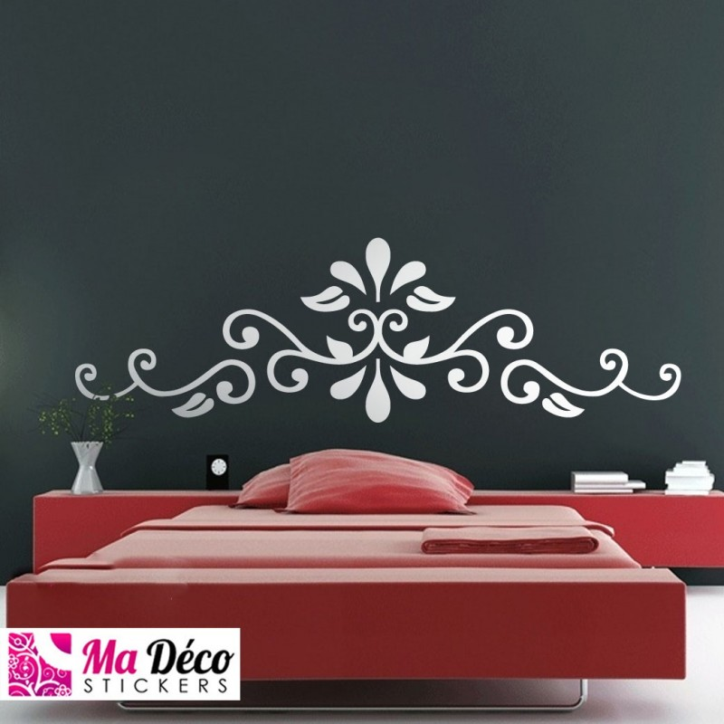 sticker ornement t te de lit cheap stickers baroque discount wall stickers madeco stickers. Black Bedroom Furniture Sets. Home Design Ideas