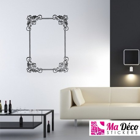 sticker ornement 08 pas cher stickers baroque discount stickers muraux madeco stickers. Black Bedroom Furniture Sets. Home Design Ideas