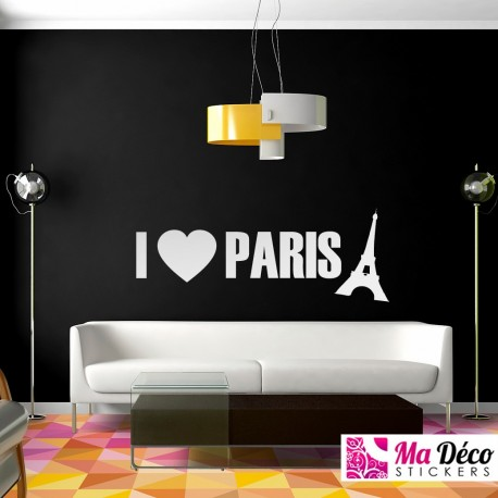 "Sticker ""I love Paris"""