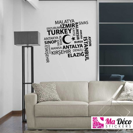 Sticker Villes de Turquie