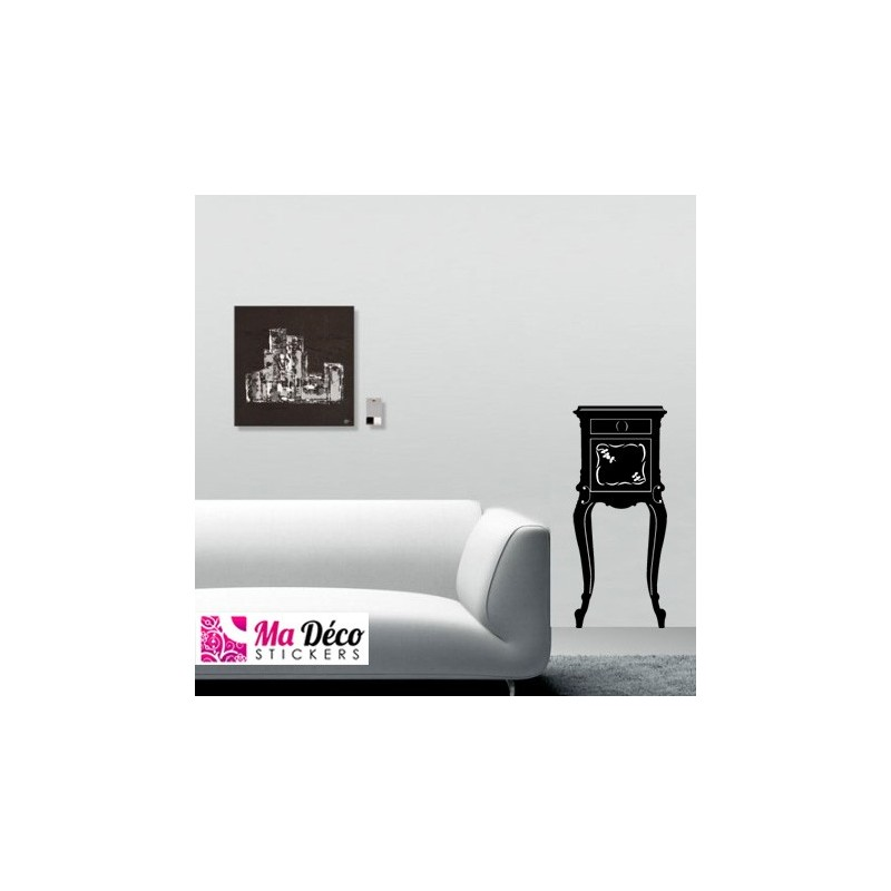 sticker meuble baroque pas cher stickers muraux discount stickers muraux madeco stickers. Black Bedroom Furniture Sets. Home Design Ideas