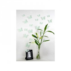 Pack of 12x 3D butterflies wall decals mint