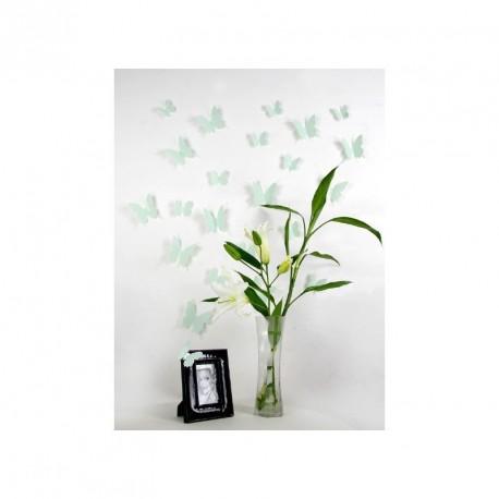 Pack of 12x 3D butterflies wall decals mint