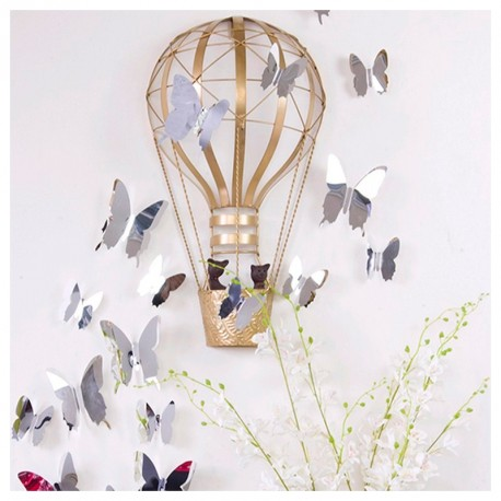 Pack of 12x 3D butterflies wall decals mirror