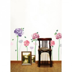 Rose flowers wall decals