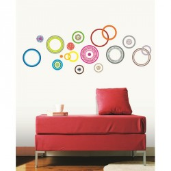 Colorful bubbles sticker