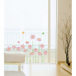 Flowers drawing wall decal