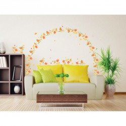 Autumn flowers wall decal