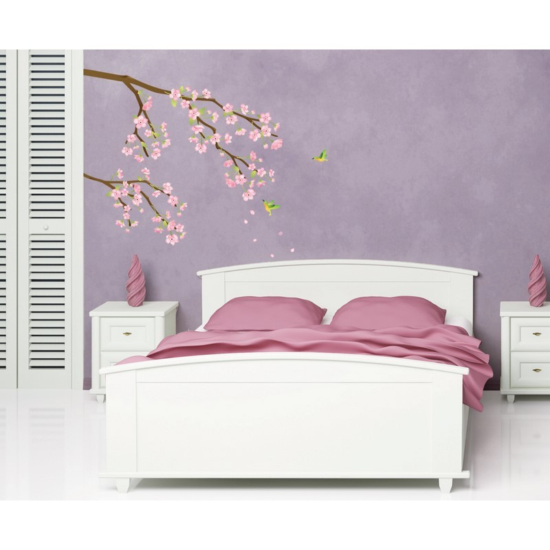 papier peint cerisier japonais simple papier peint de cerisier fleurs dcoration de peinture. Black Bedroom Furniture Sets. Home Design Ideas