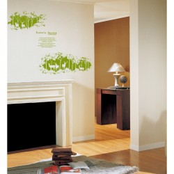 Love's secret Wall decal - green