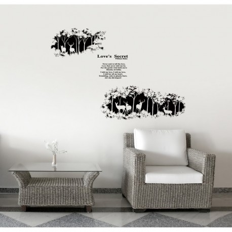 Love's secret Wall decal - black
