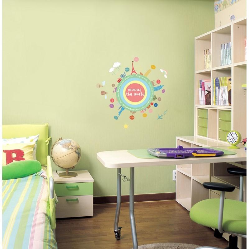 sticker mapmonde pour enfants pas cher stickers enfants discount stickers muraux madeco. Black Bedroom Furniture Sets. Home Design Ideas