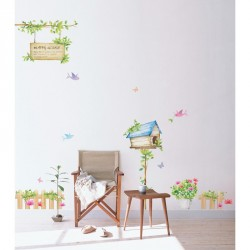 Happy House wall decal