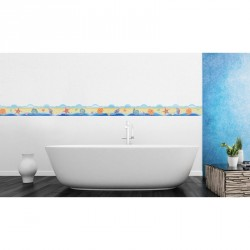 Beach, sea and shells frieze wall decal