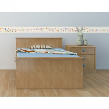 Multicolor stars frieze wall decal