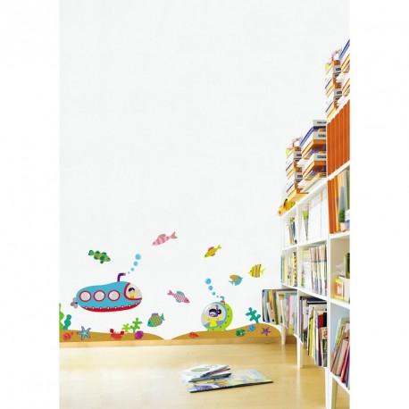 Submarine sticker for a child's room