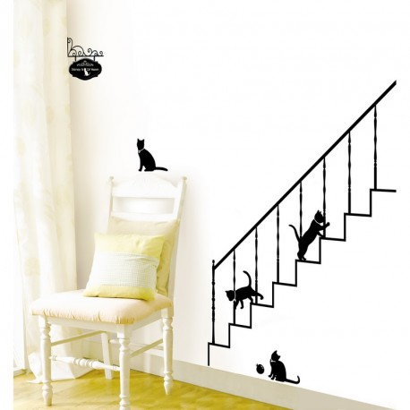 Cats and stairs