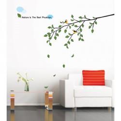 Stickers arbre et oiseau