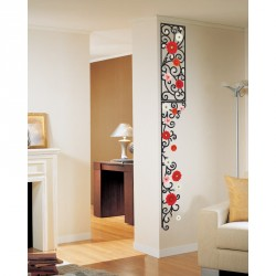 Flowers frieze decals