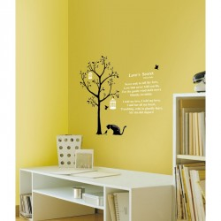 Tree and cats wall decals