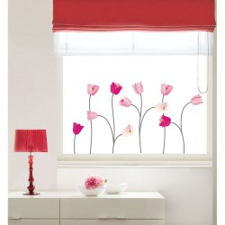 Pink poppy flowers wall decals