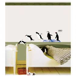 Stickers famille de Pingouins