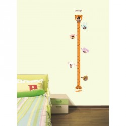 Tiger-designed child height measurement sticker