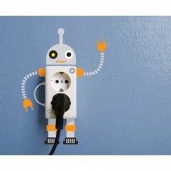 Children robots outlet wall decal