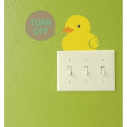 Outlet and chick cup wall decal