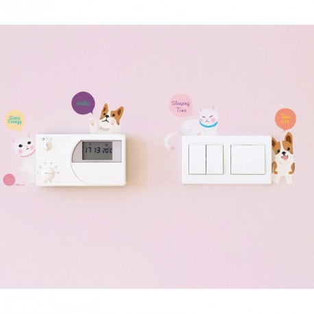 Cats and dogs outlet wall decal