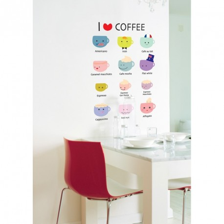 I love coffe wall decals