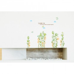 Love and Flowers wall decal