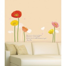 Multicolored Poppies Flowers Wall decals