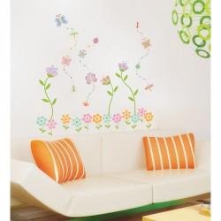 Flower Garden Butterfly wall decal
