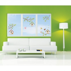 Tree sticks and birds decals