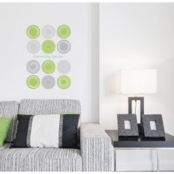 Modern green Circles Polka Dots wall decals