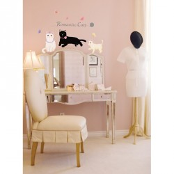 Romantic cats Wall decal