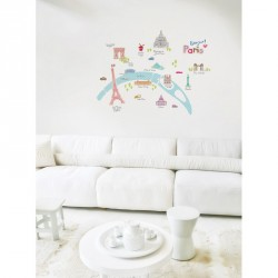 Paris buildings wall decals