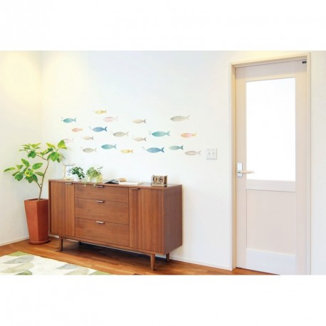 Multicolor fishes wall decals