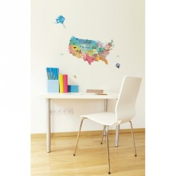 United States Map wall decal for kids