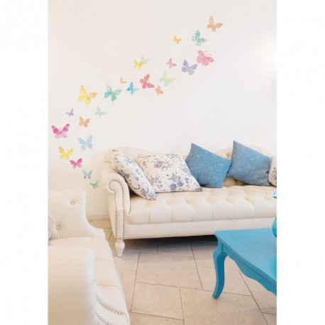 Artistic butterflies wall decals