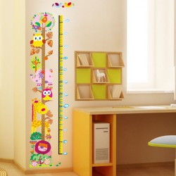 Owl and girafe  kidmeter  wall decal