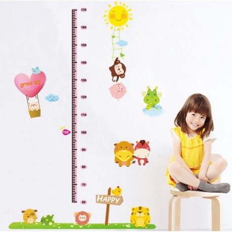 Animals and Happy sun kidmeter wall decal