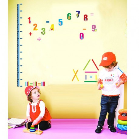 Numbers and pens kidmeter wall decal