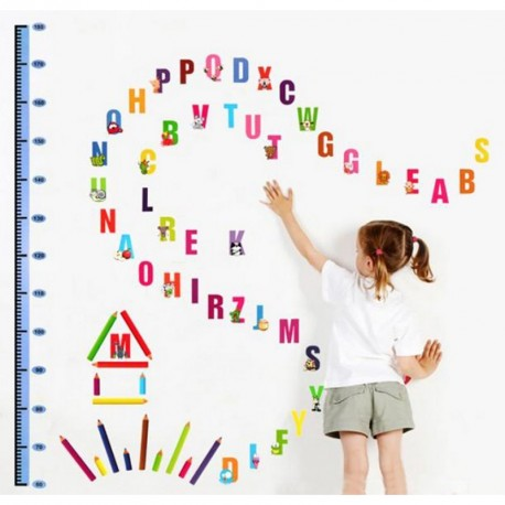 Alphabet and pens kidmeter wall decal